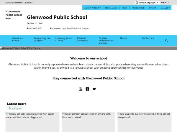 Screenshot of www.glenwood-p.schools.nsw.edu.au