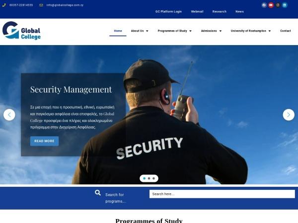 Screenshot of www.globalcollege.ac.cy