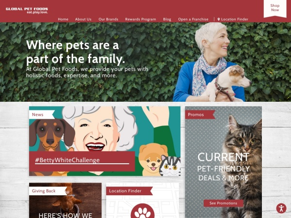 Screenshot of www.globalpetfoods.ca