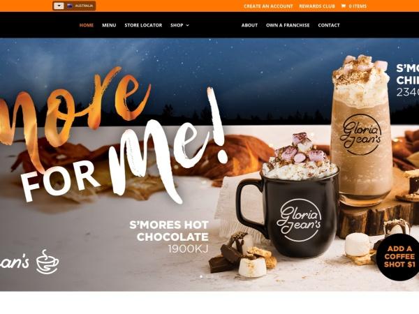 Screenshot of www.gloriajeanscoffees.com.au