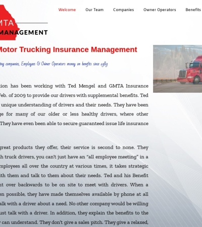 Screenshot of www.gmtainsurancemanagement.com