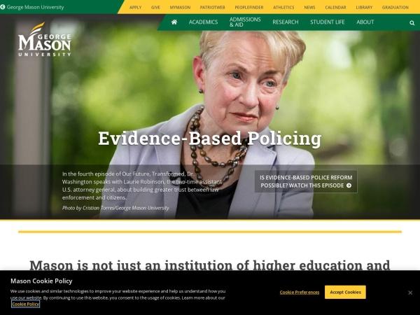 Screenshot of www.gmu.edu