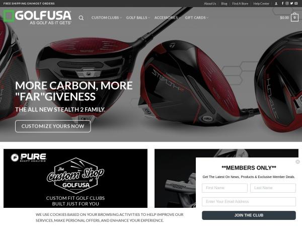Screenshot of www.golfusa.com