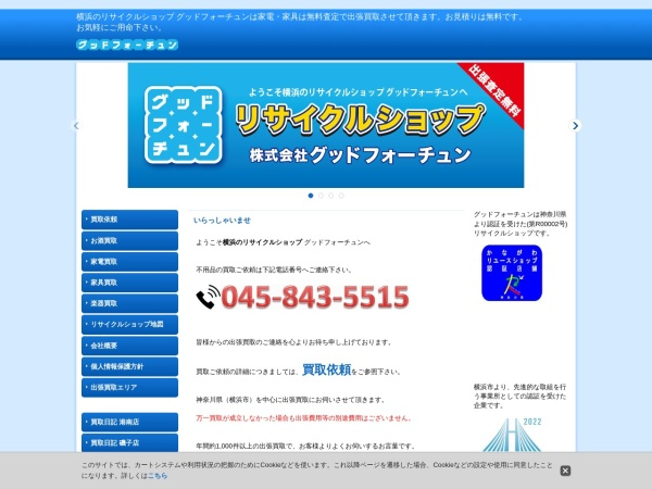 Screenshot of www.goodfortune.co.jp