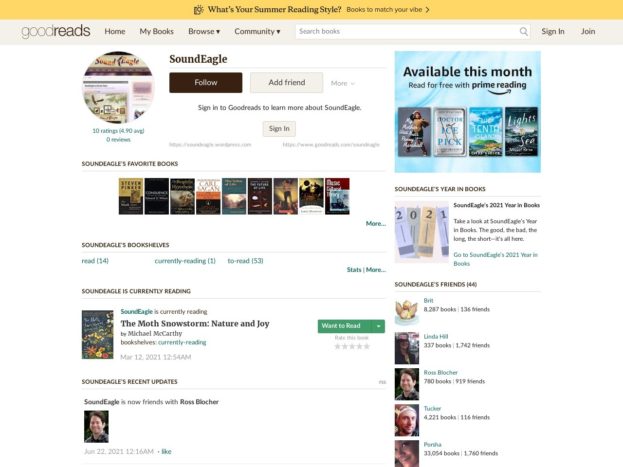 SoundEagle on GoodReads
