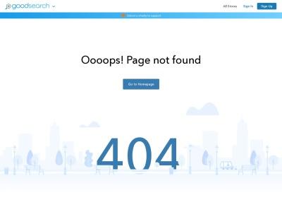 Screenshot of www.goodsearch.com