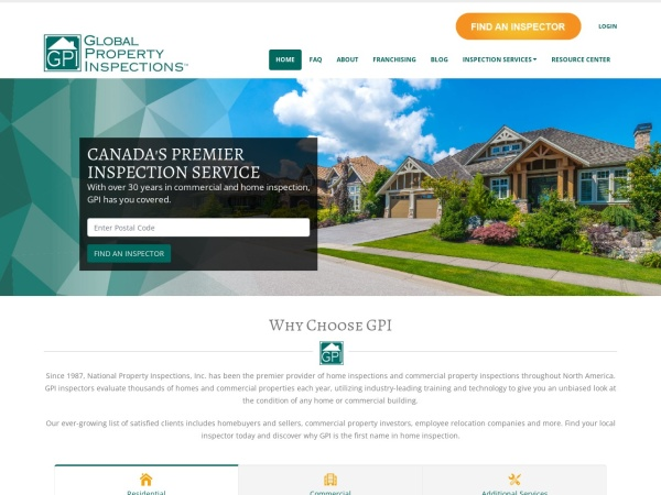 Screenshot of www.gpiweb.ca