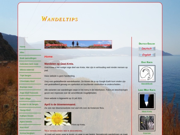 Screenshot of www.gpswandelenkreta.nl