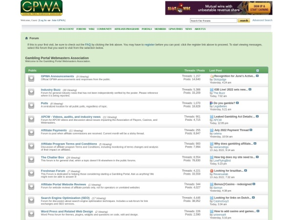 Screenshot of www.gpwa.org