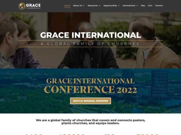 Screenshot of www.graceinternational.org