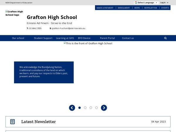 Screenshot of www.grafton-h.schools.nsw.edu.au
