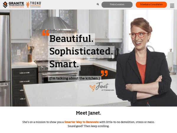 Screenshot of www.granitetransformations.com
