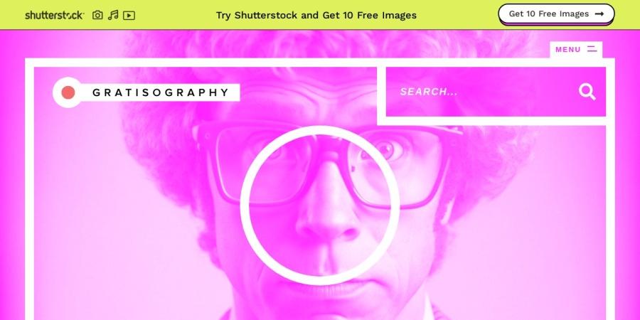 Screenshot of www.gratisography.com