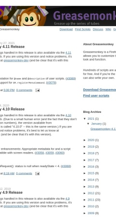 Screenshot of www.greasespot.net