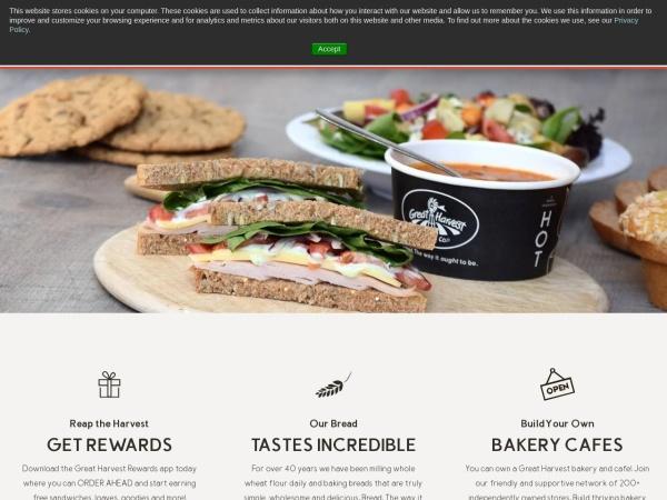 Screenshot of www.greatharvest.com