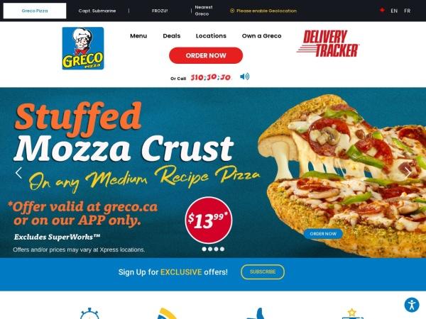 Screenshot of www.greco.ca