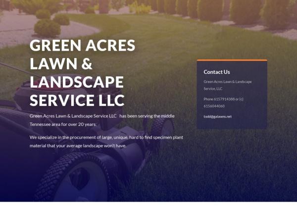 Screenshot of www.greenacreslawns.net