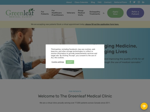 Screenshot of www.greenleafmc.ca