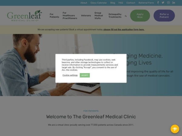 Screenshot of www.greenleafmc.ca