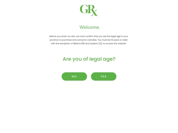 Screenshot of www.greenrelief.ca