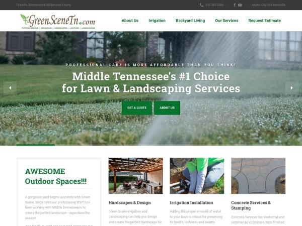 Screenshot of www.greenscenetn.com