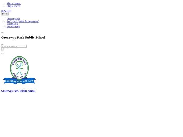 Screenshot of www.greenwaypk-p.schools.nsw.edu.au