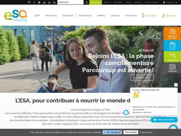 Screenshot of www.groupe-esa.com