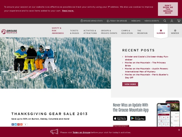 http://www.grousemountain.com/events/thanksgiving-gear-sale-2013