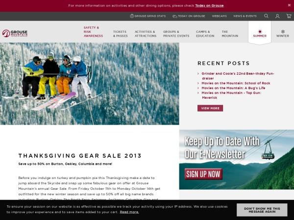 Screenshot of www.grousemountain.com