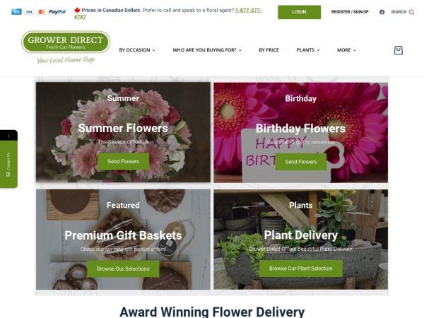 Screenshot of www.growerdirect.com