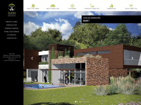 Captura de pantalla de www.grupocuna.com
