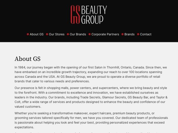 Screenshot of www.gsbeautygroup.com