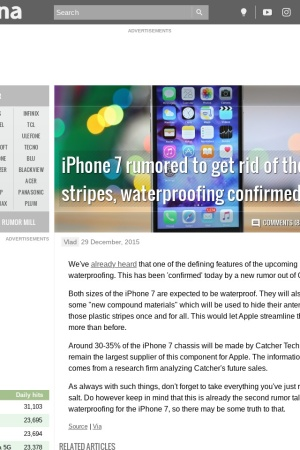 http://www.gsmarena.com/iphone_7_rumored_to_get_rid_of_the_antenna_stripes_waterproofing_confirmed-news-15772.php