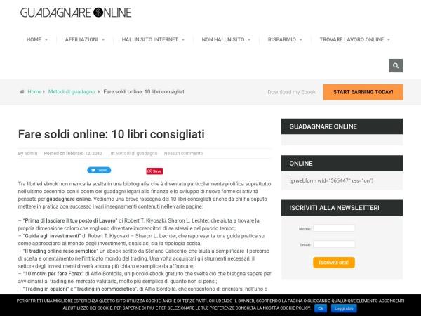 Screenshot of www.guadagnare-on-line.org