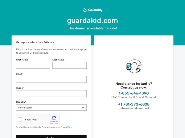 Screenshot of www.guardakid.com