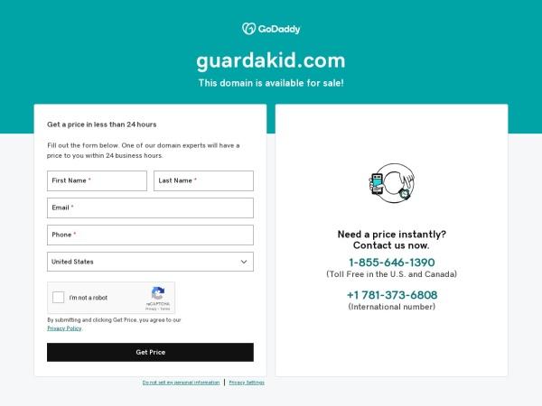 Screenshot of www.guardakid.com