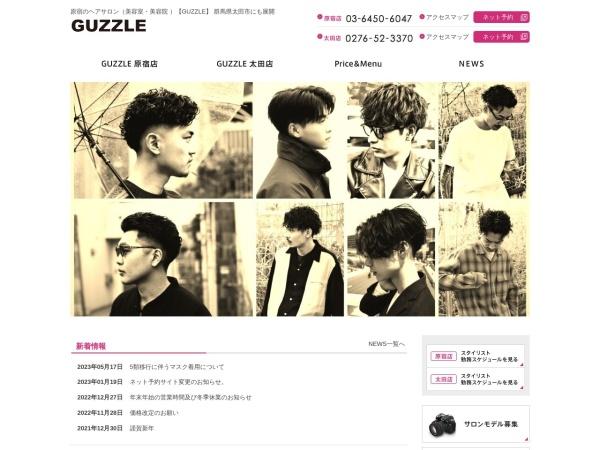 Screenshot of www.guzzlehair.com