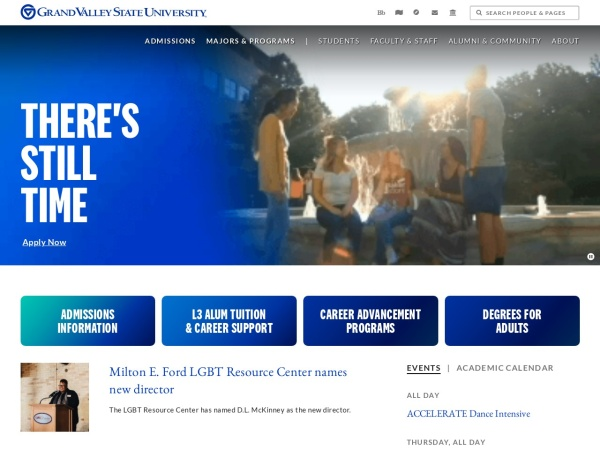 Screenshot of www.gvsu.edu