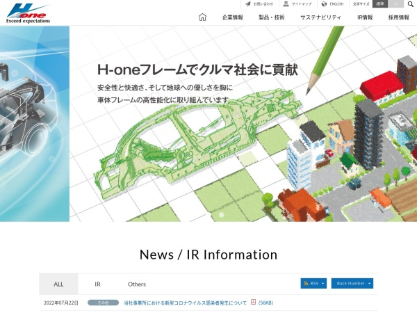 Screenshot of www.h1-co.jp