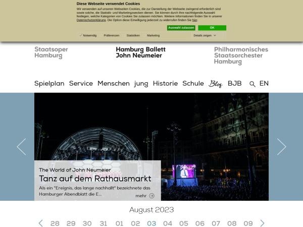 Screenshot of www.hamburgballett.de