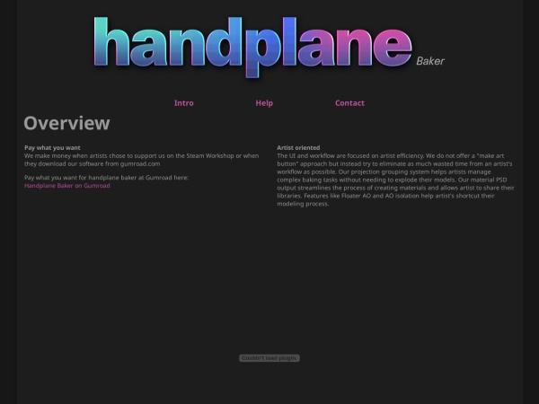 Screenshot of www.handplane3d.com