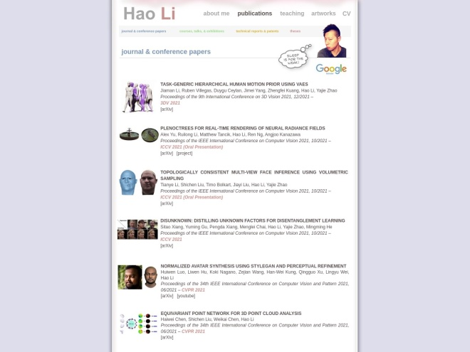 http://www.hao-li.com/Hao_Li/Hao_Li_-_publications.html