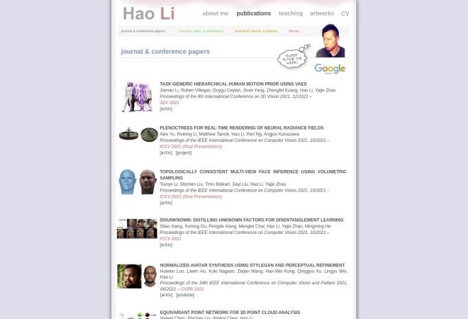 Screenshot of www.hao-li.com