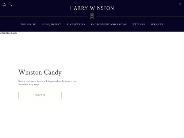 Screenshot of www.harrywinston.com
