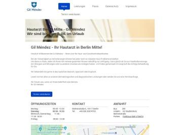 Screenshot of www.hautarzt-mitte.com