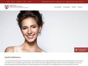 Screenshot von www.hautarzt-mitte.de