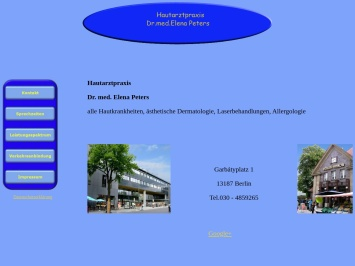 Screenshot von www.hautarzt-praxis-berlin.de