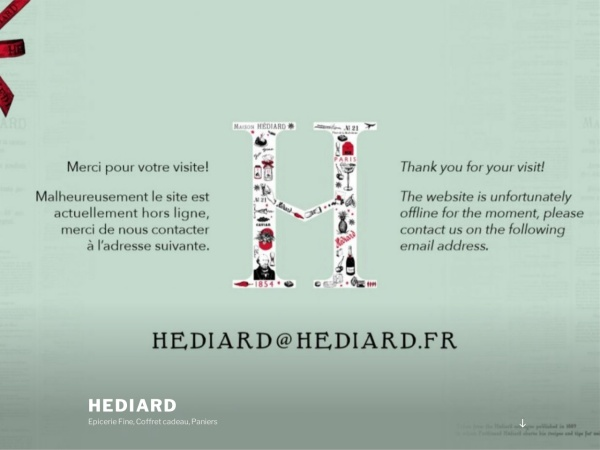 Screenshot of www.hediard.com