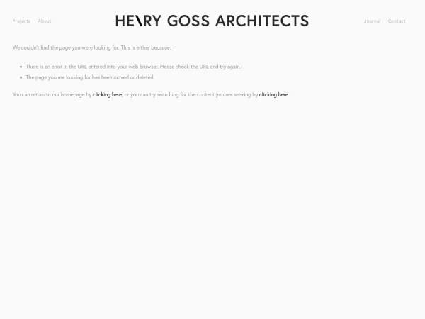 Screenshot of www.henrygossarchitects.com