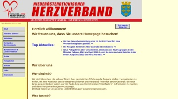 Screenshot of www.herzverband-noe.at